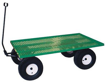 AMISH STEEL BED WAGON Green Utility Pull Cart USA