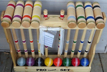 CROQUET SET & CADDY - 8 Player 32