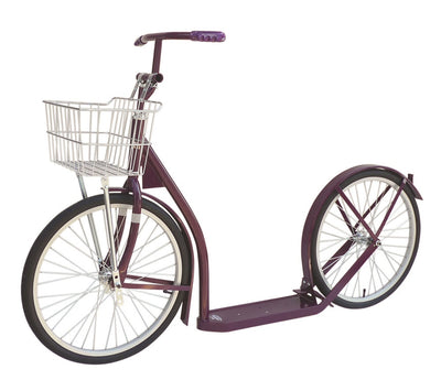 "16"" GENUINE AMISH KICK SCOOTER with Wire Basket & Handbrake 13 COLORS"