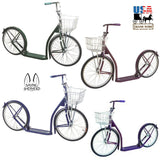 "20"" ADULT SCOOTER - Genuine Amish with Basket Handbrake & Racing Wheels in 12 Colors!"