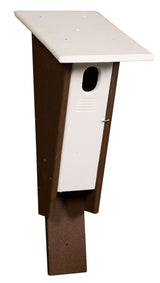 PETERSON BLUEBIRD HOUSE - 100% Recycled Poly Post Mount Birdhouse