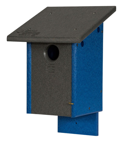 Amish Handmade BLUEBIRD HOUSE - 100% Recycled Poly Post Mount Birdhouse