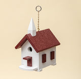 COUNTRY CHURCH BIRD HOUSE - Weatherproof Poly Wren Chapel in 10 Colors