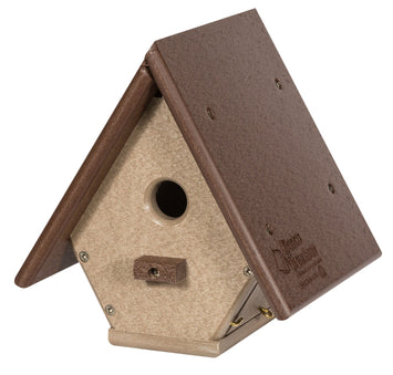 A-FRAME WREN HANGING BIRDHOUSE - Weatherproof Poly Adorable Bird Cabin