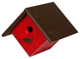 CHICKADEE WREN HANGING BIRD HOUSE - Classic Diamond Shape Weatherproof Poly