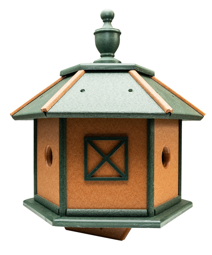 3 ROOM GAZEBO BIRDHOUSE - Weather Fade & Rot Proof Poly Amish USA