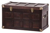 "AMISH HOPE CHEST- 30½"" Handmade Steamer Cedar Trunk with Brass & Leather USA"