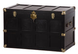 "36½"" AMISH STEAMER TRUNK - Handmade Hope Chest with Brass & Leather USA"