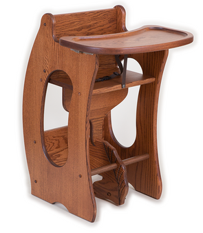 3-in-1 HIGH CHAIR Desk ROCKING HORSE Solid Amish Handmade Furniture