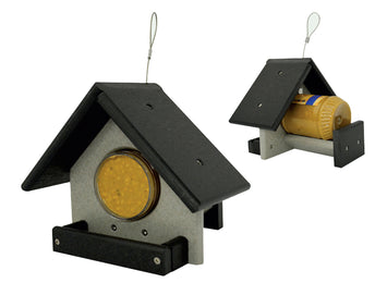 PEANUT BUTTER JAR BIRD FEEDER - Simple & Effective Recycled Poly Amish Handmade USA