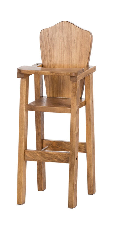 DOLL HIGH CHAIR - Amish Handmade Wood Booster Chair & Tray