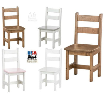 CHILDREN'S CHAIR - Handmade Maple Wood Child Toddler Youth Furniture
