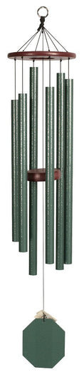Tranquil Rain 37 inch Green Amish Handmade Wind chime