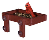 WINDOW MOUNT BIRD SEED FEEDER - Get Up Close 100% Recycled Polywood in 14 Colors