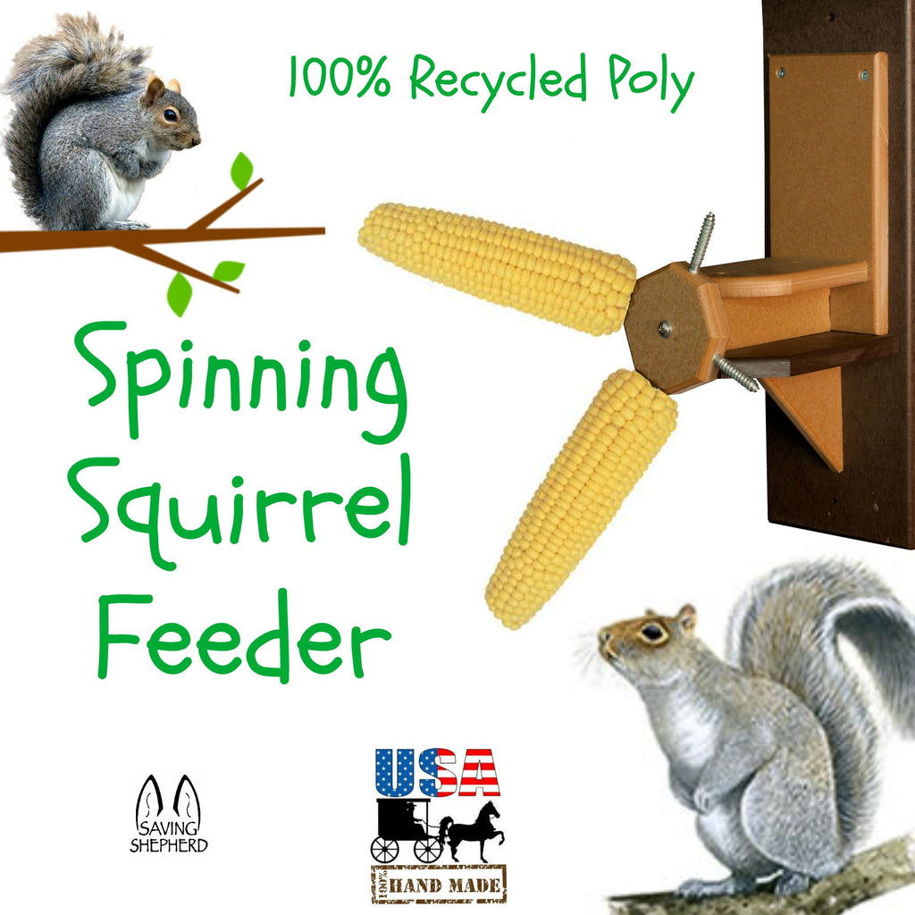 Home & Garden Spinning Squirrel Feeder Fun Way 2 Keep From Bird Feeders 100% Recycled Poly Usa Other Bird & Wildlife Accs