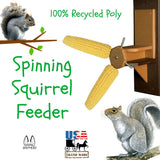 SPINNING SQUIRREL FEEDER - Fun Way 2 Keep from Bird Feeders 100% Recycled Poly USA
