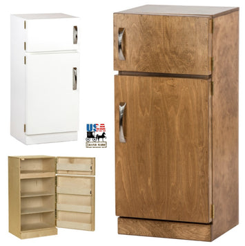 KITCHEN REFRIGERATOR - Amish Handmade Wood Play Furniture in 10 Finishes