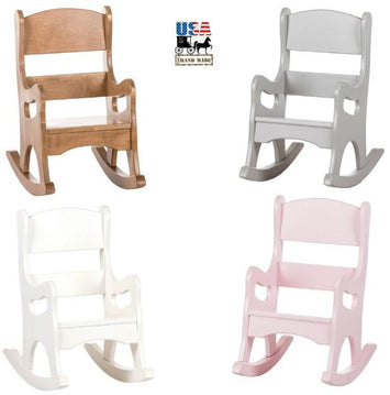 CHILDREN'S ROCKING CHAIR - Handmade Wood Toddler Rocker