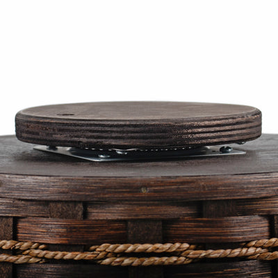 LAZY SUSAN - Amish Hand Woven Spinning Basket Spice Rack - 2 Sizes & 13 Finishes
