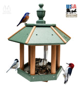 GAZEBO BIRD FEEDER - Weather Fade & Rot Proof Poly Amish USA