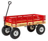 "4' WAGON with HAND BRAKE - 48"" x 24"" Amish Garden Cart"