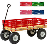 "4' WAGON with HAND BRAKE - 48"" x 24½"" Amish Garden Cart"