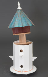 "6 ROOM PATINA COPPER & VINYL BIRDHOUSE - Large 30"" Bird Condo"