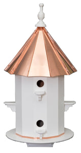 "6 ROOM COPPER & VINYL BIRDHOUSE - Large 30"" Bird Condo"