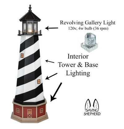 BALTIMORE ORIOLES LIGHTHOUSE - Baseball Orange & Black Working Light