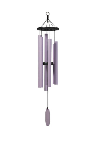 "Bleeding Heart Wind Chime 41"" Purple Bells"