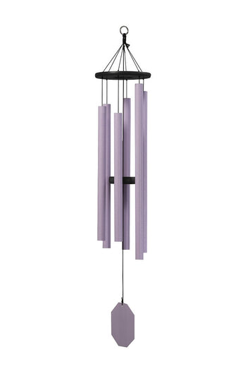 EVENING PRIMROSE WIND CHIME ~ Amethyst 43 inch Amish Handmade in USA