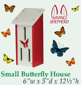 BUTTERFLY HOUSE - Amish Handmade Custom Recycled Poly Garden Post Mount