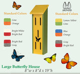 LARGE BUTTERFLY HOUSE - Amish Handmade Deluxe Custom Recycled Poly Garden