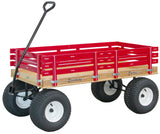 Large Amish Beach Garden Off Road Wagon Wide Mud Tires