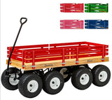 "DOUBLE TANDEM WAGON - LARGE 58"" Off Road All Terrain 13""x 6"" Turf Tires USA"