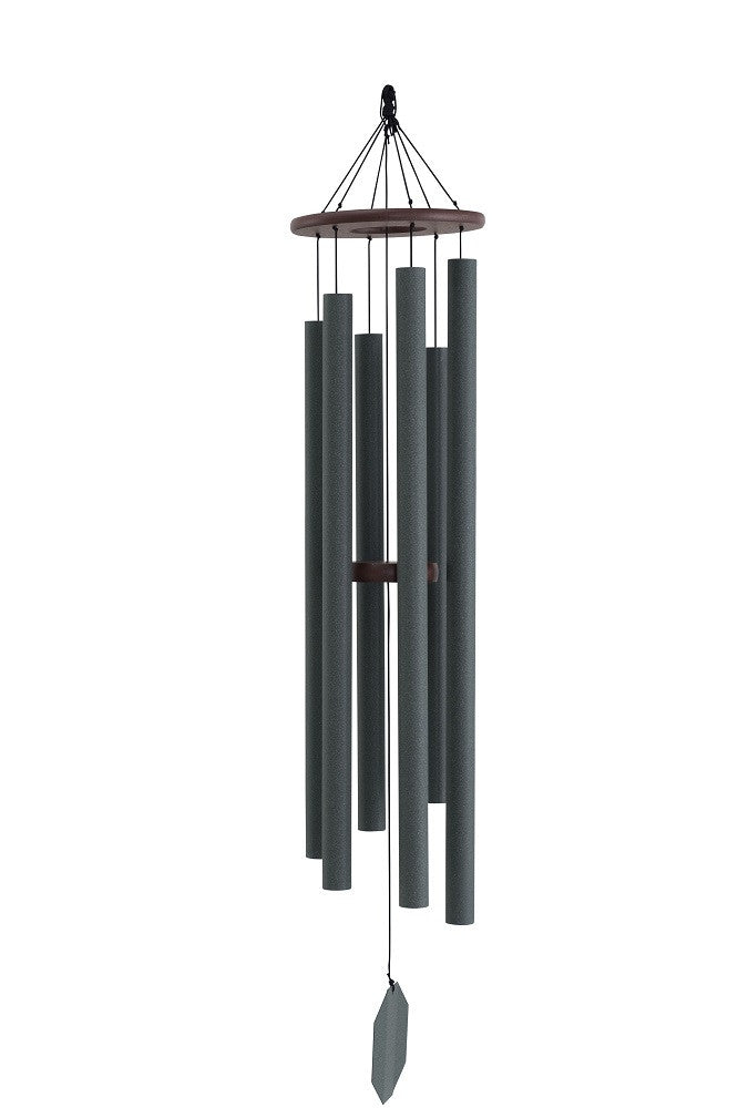 SONIC SOUND WAVES WIND CHIME ~ Weathered Bronze Finished 56 inch Amish Handmade in USA