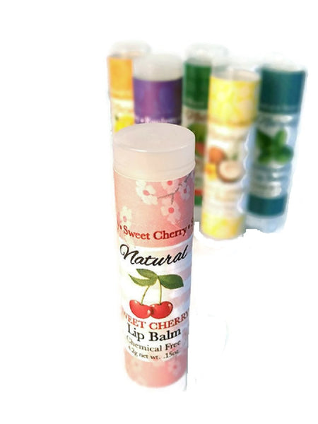 SWEET CHERRIES LIP BALM ~ All Natural & Handmade Cherry Taste 4 SPF
