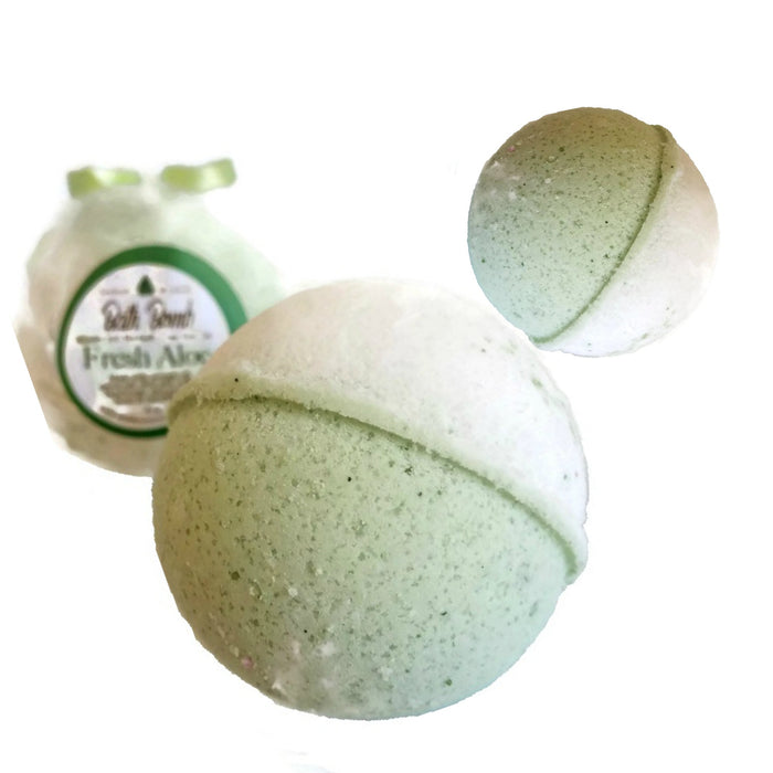 FRESH ALOE BATH BOMB 3 Pack All Natural Handmade Essentail Oil Blend