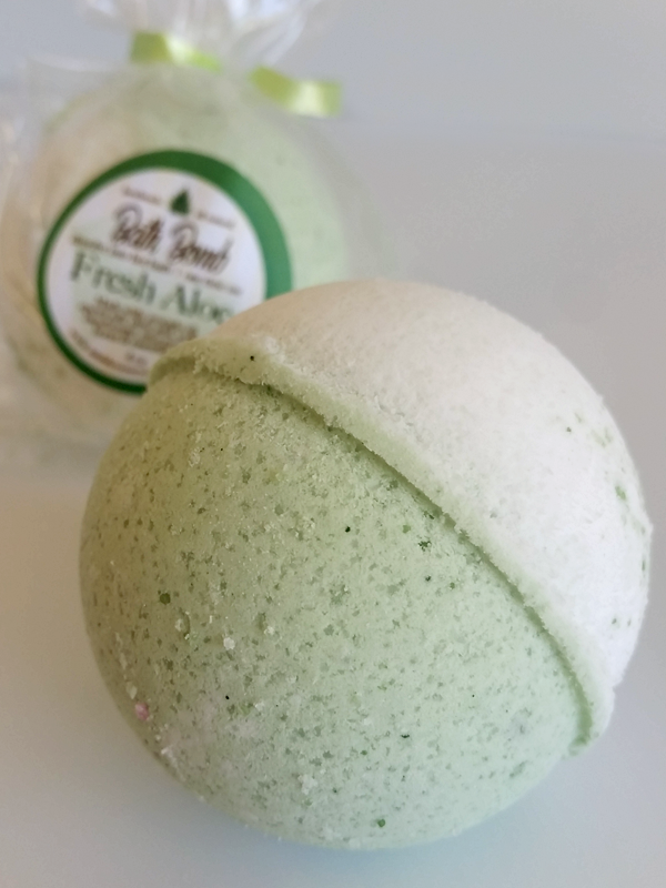 FRESH ALOE BATH BOMB All Natural Handmade Essentail Oil Blend