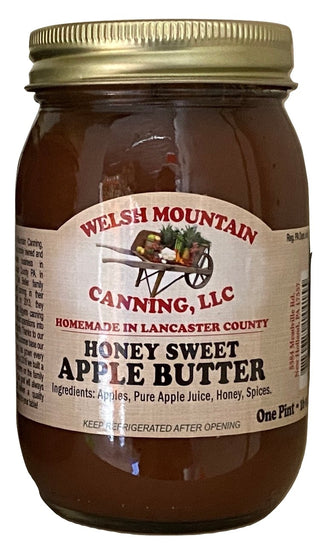 HONEY SWEET APPLE BUTTER - Amish Fresh Homemade Spread with No Sugar Added