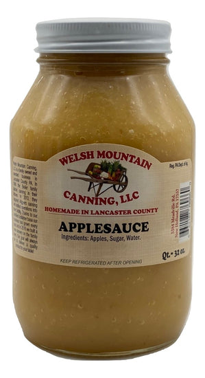AMISH APPLESAUCE - 16oz Pint & 32oz Quart Jars Homemade in Lancaster USA