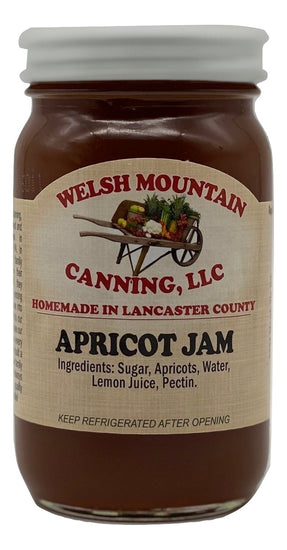 APRICOT JAM - 100% All Natural Amish Homemade Spread