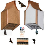 COPPER ROOF BAT HOUSE - Backyard Mosquito Control in White & Cedar Finish