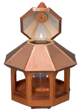"27"" COPPER TOP BIRD FEEDER - Large Natural Cedar Gazebo"