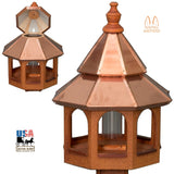 "27"" COPPER TOP BIRD FEEDER - Large Natural Finished Gazebo"