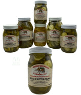 BREAD & BUTTER PICKLE CHUNKS - 16 & 32 oz Jars Amish Homemade in Lancaster USA