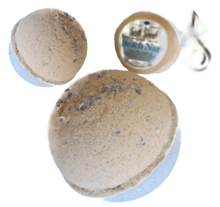 Beachnut BATH BOMB 3 Pack All Natural Handmade with Vanilla & Acai Oils