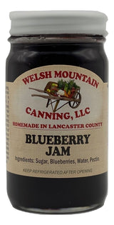 BLUEBERRY JAM - 100% All Natural Amish Homemade USA