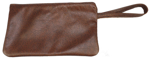 CLUTCH HANDBAG - Leather Wrist Purse Amish Handmade in USA - 5 COLORS