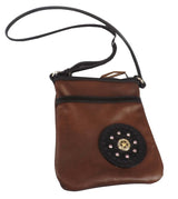 DURANGO CROSSBODY LEATHER SHOULDER BAG with Country Western Star ~ Handmade in USA